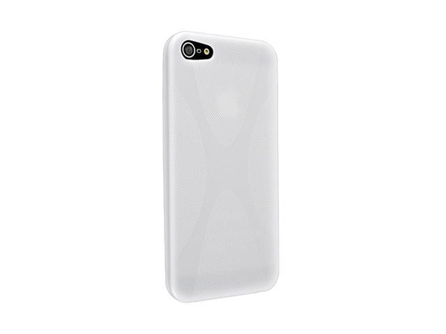 Insten White X Shape 1X TPU Rubber Skin Case For iPhone 5 712647
