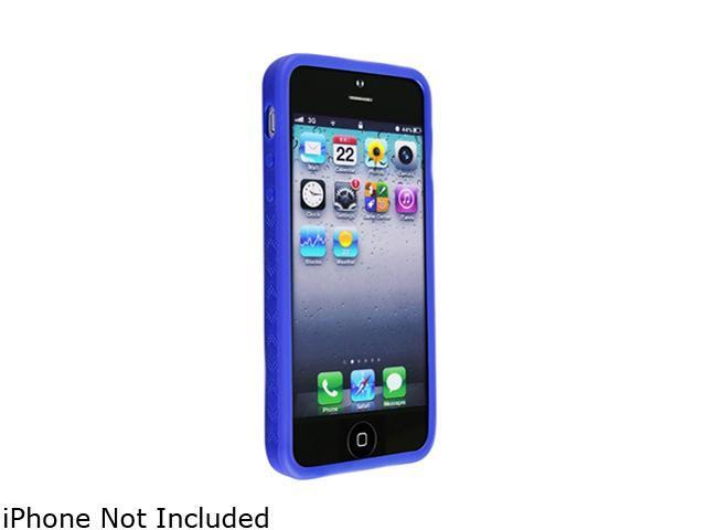Insten Blue 1X Bumper TPU Case For iPhone 5 712658