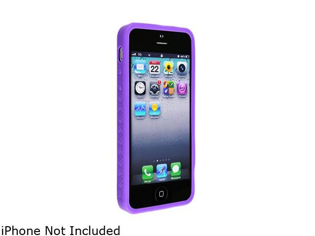 Insten Purple 1X Bumper TPU Case For iPhone 5 / 5S 712659