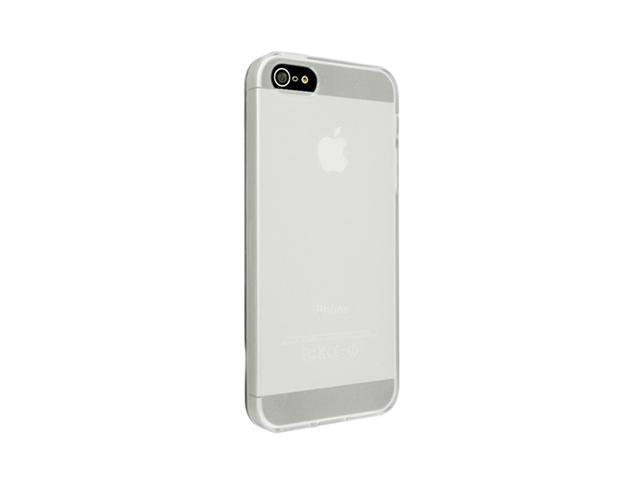Insten Frost Clear White 1X TPU Case For iPhone 5 / 5S 712662