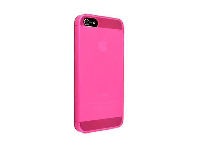 Insten Frost Clear Hot Pink 1X TPU Case For iPhone 5 712663