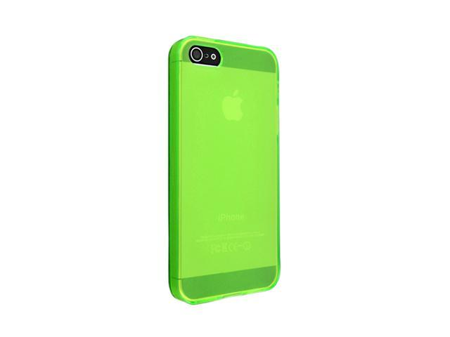 Insten TPU Case for Apple iPhone 5 / 5S, Frost Clear Green