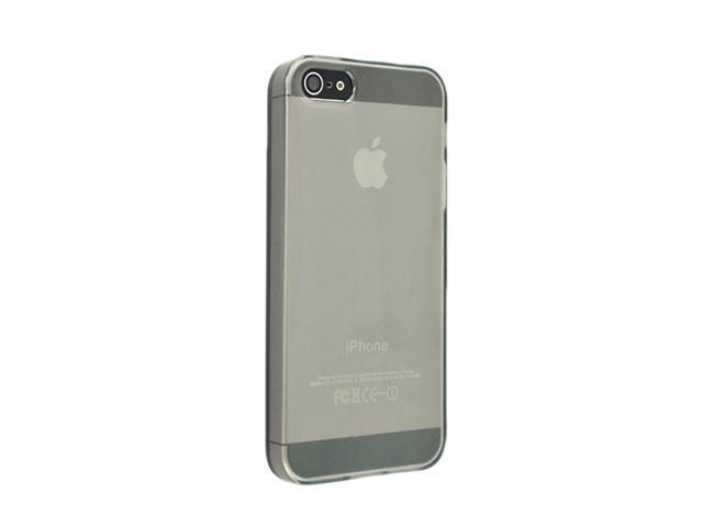 Insten Frost Clear Smoke 1X TPU Case For iPhone 5 / 5S 712665