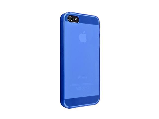 Insten Frost Clear Dark Blue 1X TPU Case For iPhone 5 712666