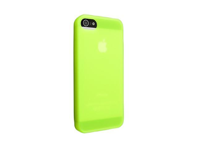 Insten Green 1X Silicone Case For iPhone 5 738998