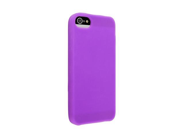 Insten Purple 1X Silicone Case For iPhone 5 739000