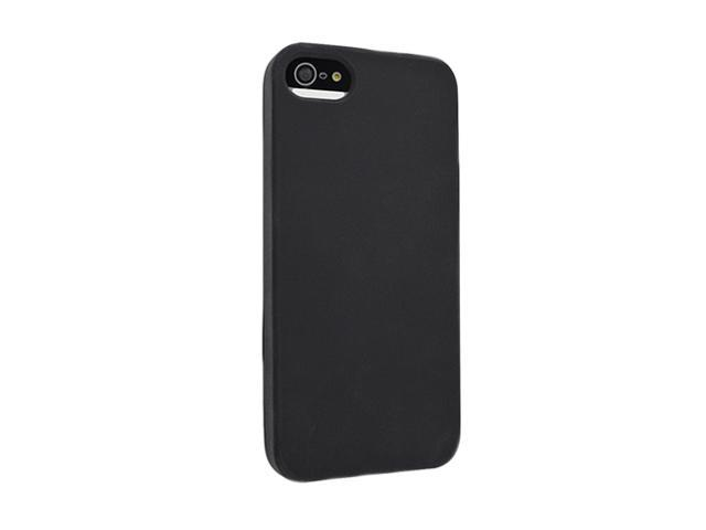 Insten Black 1X Silicone Case For iPhone 5 739001