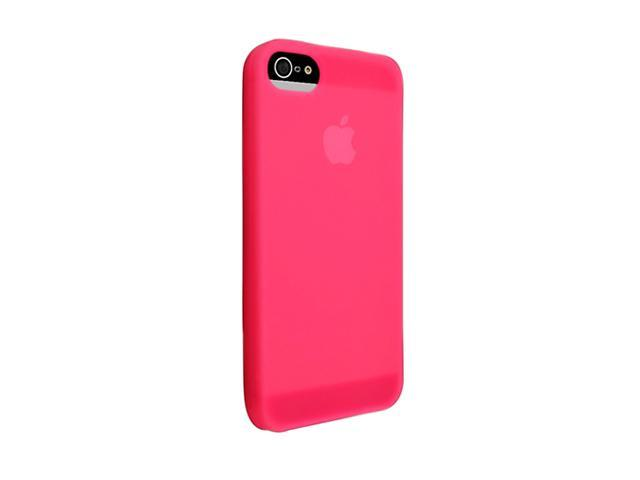 Insten Hot Pink 1X Silicone Case For iPhone 5 / 5S 739002