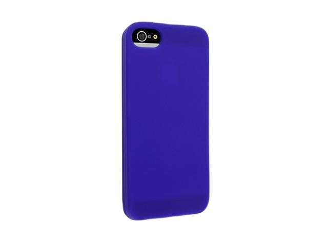 Insten Blue 1X Silicone Case For iPhone 5 / 5S 739004