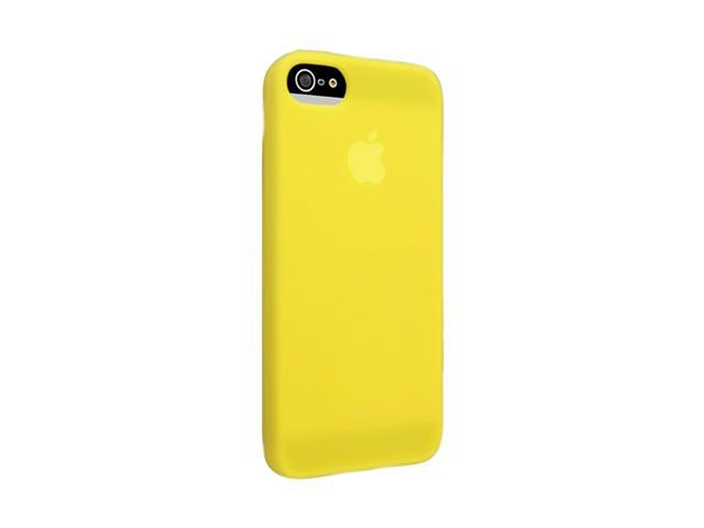 Insten Yellow 1X Silicone Case For iPhone 5 739005