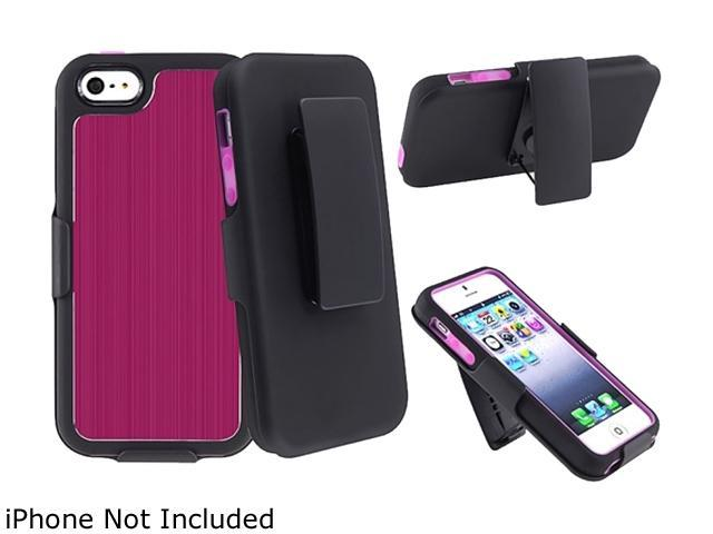 Insten Hot Pink Solid Swivel Holster with Stand For iPhone 5 800862