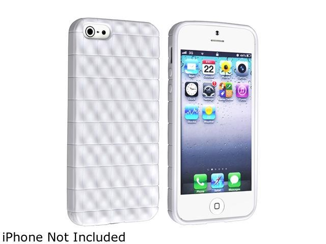Insten White 3D Wave TPU Rubber Skin Case For iPhone 5 800861