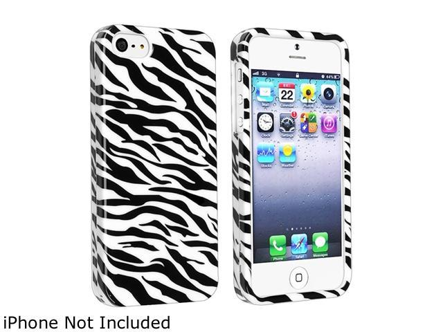 Insten Zebra Skin Snap-on Hard Plastic Case For iPhone 5 800833