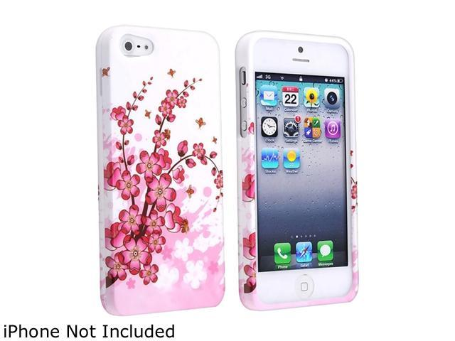 Insten White Spring Flowers Snap-on Hard Plastic Case For iPhone 5 800834