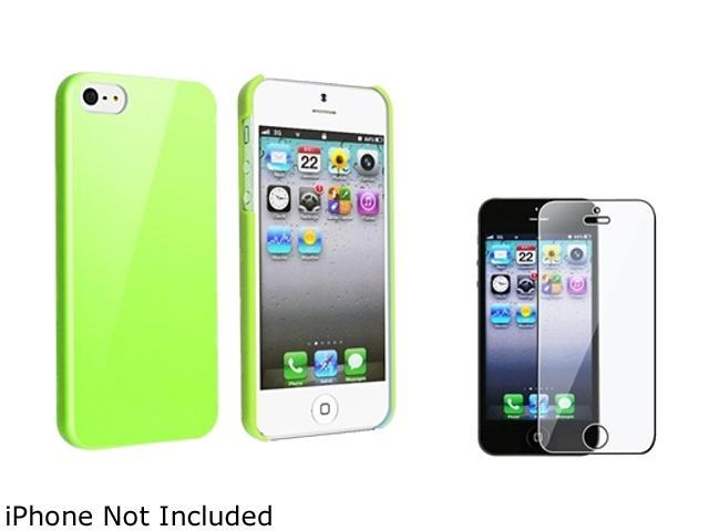 Insten Green Ice Cream Snap-On Case w/ Reusable Screen Protector For iPhone 5 755248