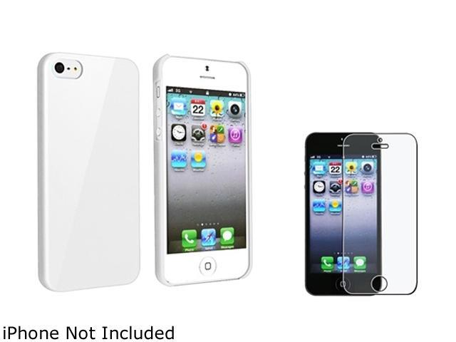 Insten White Ice Cream Snap-On Case w/ Anti-Glare Screen Protector For iPhone 5 755256