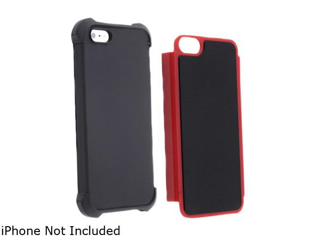 Insten Black Skin / Red Hard Hybrid Armor Case For iPhone 5 / 5S 806850