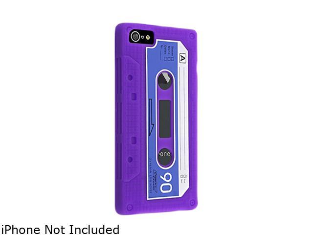 Insten Purple Tape Silicone Skin Case For iPhone 5 806851