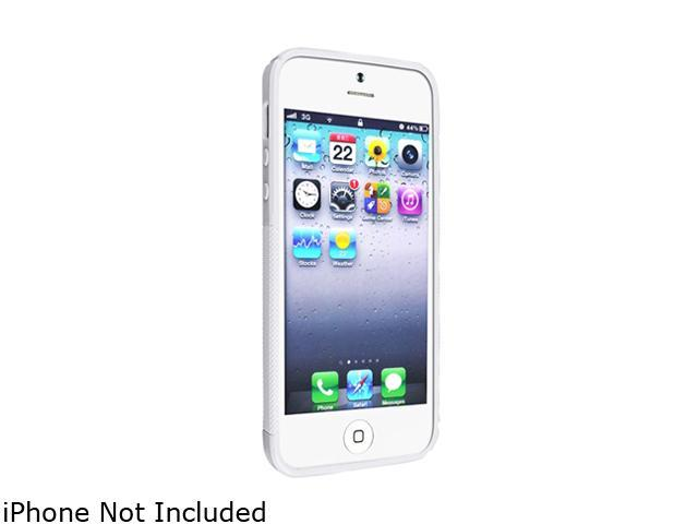 Insten White S Shape TPU Rubber Skin Case w/ Anti-Glare Screen Protector For iPhone 5 738656