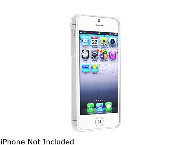 Insten Clear Clip-on Slim Case with Anti-Glare LCD Cover compatible with the NEW Apple iPhone 5