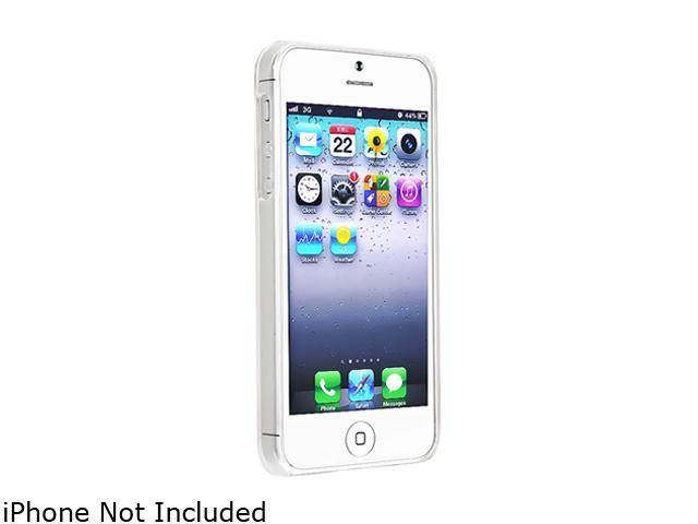 Insten Clear Clip-on Slim Case with [2pcs-set] Mirror Screen Protector compatible with the NEW Apple iPhone 5