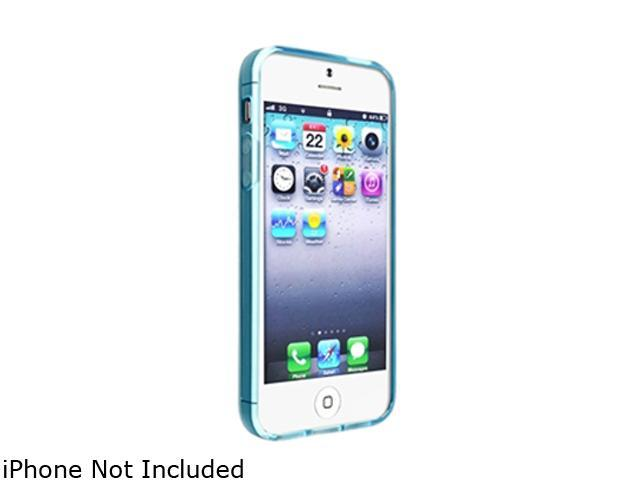 Insten Frost Clear Light Blue TPU Case with Mirror Screen Protector compatible with the NEW Apple iPhone 5