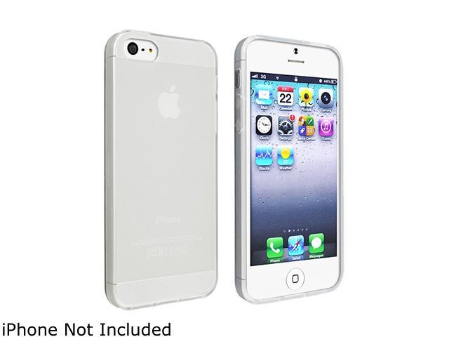 Insten Frost Clear White TPU Case + 2pcs-set Anti-Glare LCD Cover compatible with the NEW Apple iPhone 5