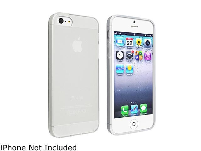 Insten Frost Clear White TPU Case with 2pcs-set Mirror Screen Protector compatible with the NEW Apple iPhone 5