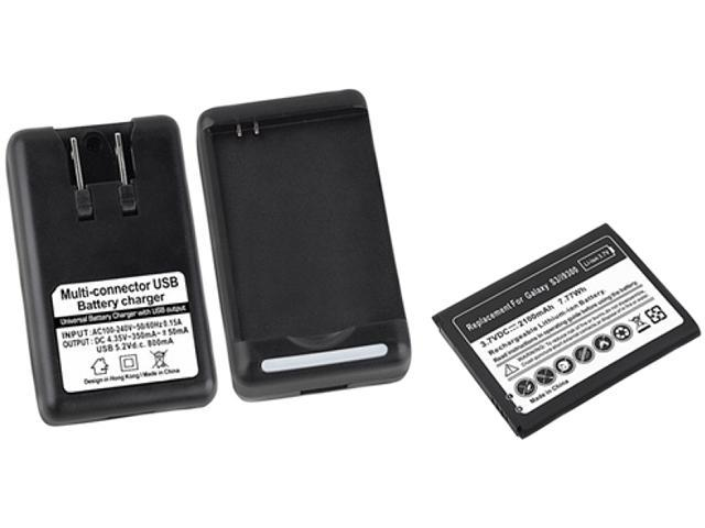 Insten Replacement Battery & Desktop Charger For Samsung Galaxy S3 752118