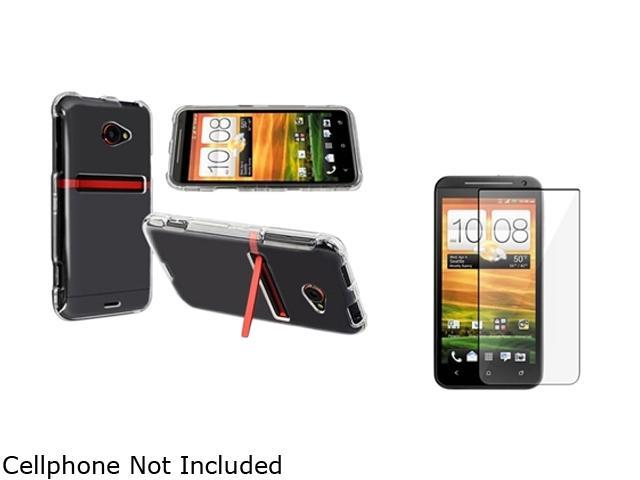 Insten Clear Snap-on Crystal Case & Reusable Screen Protector For HTC EVO 4G LTE 752596
