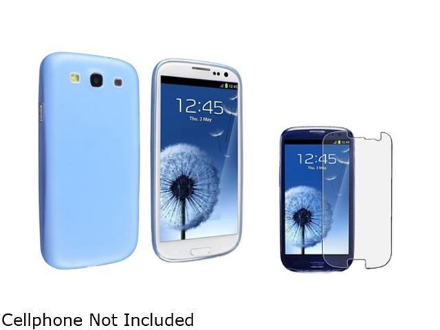 Insten Clear Blue Slim Snap-on Case & Anti-Glare Screen Protector For Samsung Galaxy S3 752177