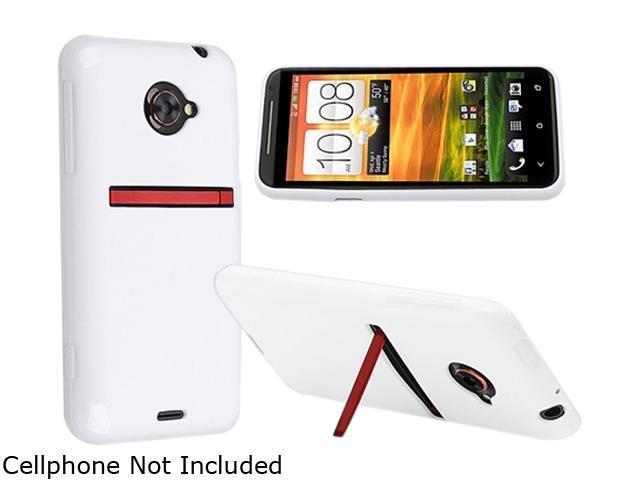 Insten White Jelly TPU Rubber Skin Case for HTC EVO 4G LTE 719289