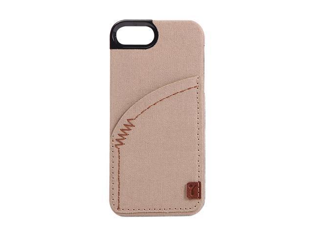 The Joy Factory Denim Khaki Premium Hardshell Case w/ Pocket for iPhone 5 CSD112