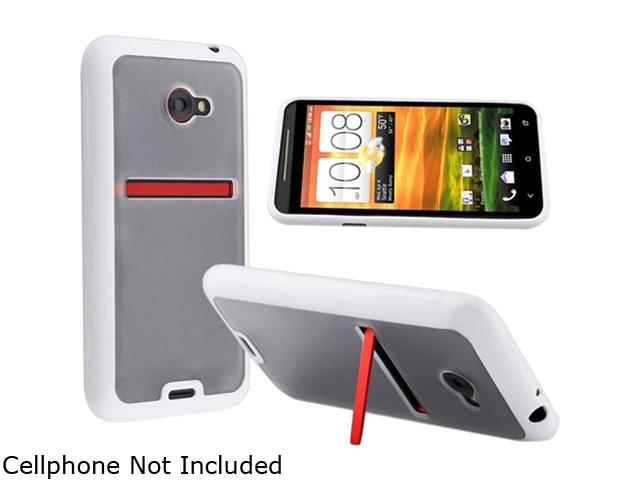 Insten Clear with White Trim TPU Rubber Skin Case for HTC EVO 4G LTE 682359
