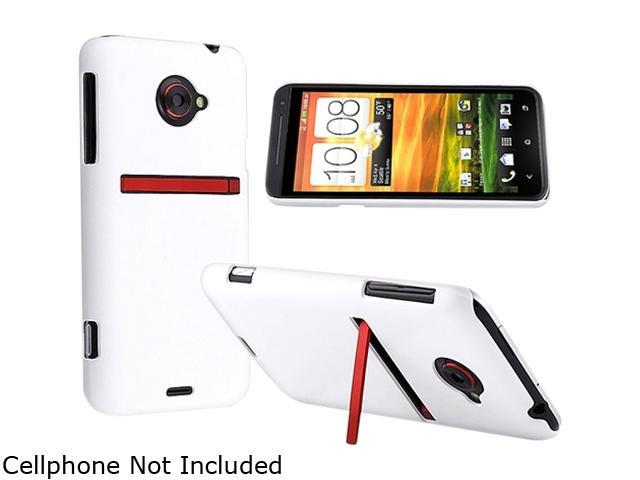 Insten White Snap-on Rubber Coated Case for HTC EVO 4G LTE 682328