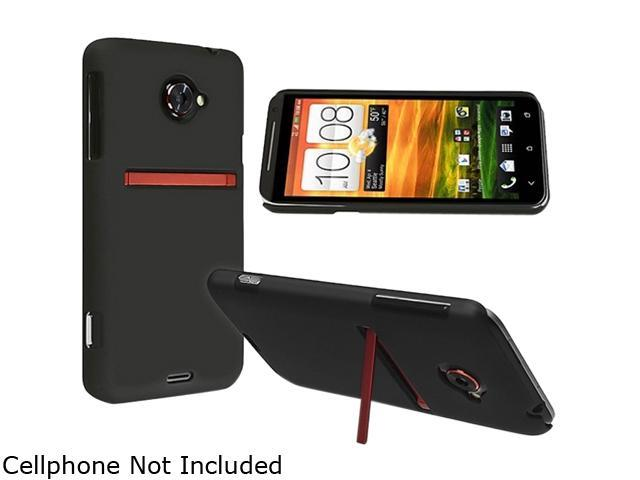 Insten Black Snap-on Rubber Coated Case for HTC EVO 4G LTE 682327