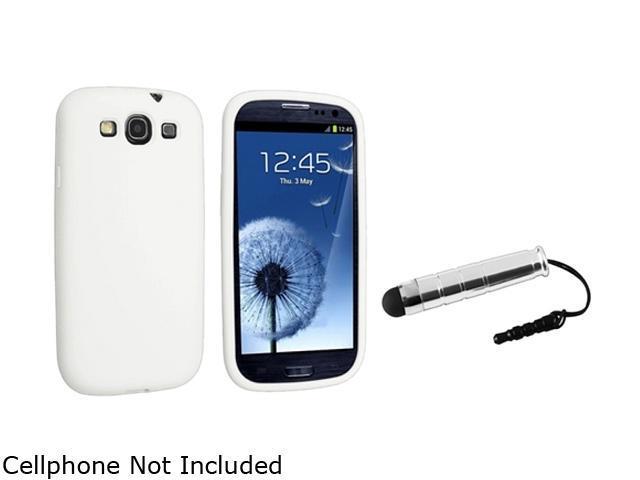 Insten White Silicone Skin Case & Stylus For Samsung Galaxy S3 675009