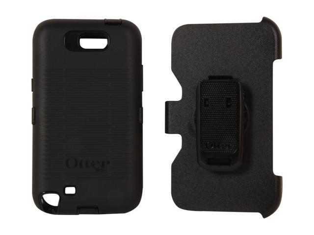OtterBox Defender Black Solid Case For Samsung Galaxy Note 2 77-23996