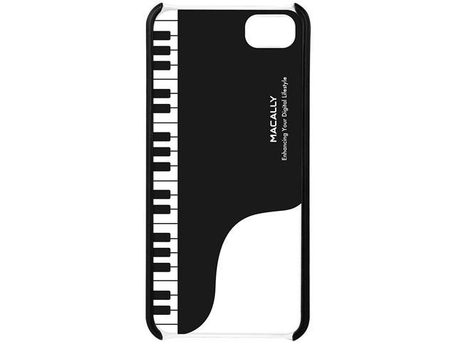 macally Black & White Piano Case with Stand for iPhone 5 JAZZ5