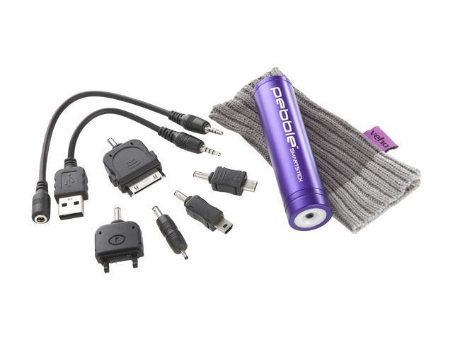 Veho Pebble Smartstick Purple 2200 mAh Portable Battery VPP-002-SSM