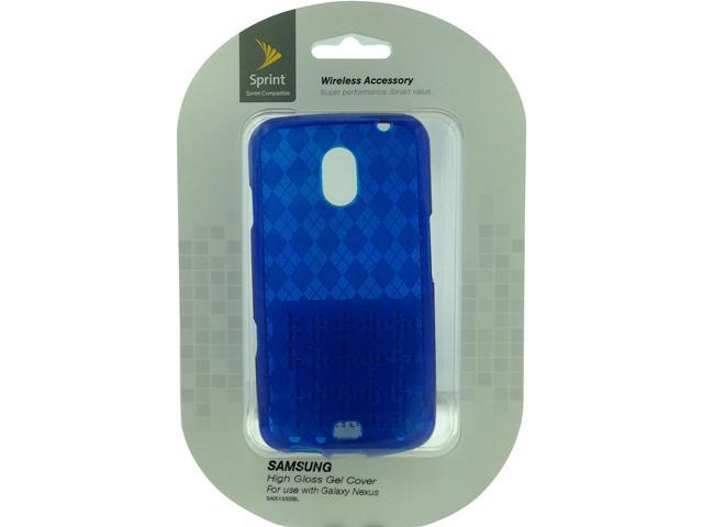 Aftermarket Blue Diamond Pattern Slider Skin For Samsung Galaxy Nexus i515 SAI515SSBL