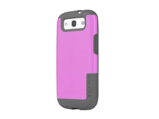 Incipio FAXION Dark Gray / Pink Semi-Rigid Soft Shell Case w/ Polycarbonate Frame For Samsung Galaxy S III SA-308