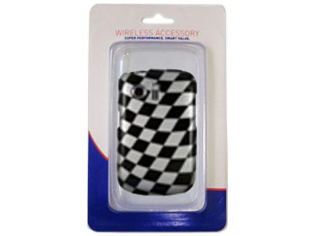 Aftermarket Black & White Check Snap On Cover For Huawei Pinnacle HUAPINNSCBW