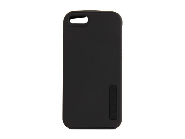 Incipio SILICRYLIC DualPro Obsidian Black / Obsidian Black Solid Hard Shell Case w/ Silicone Core for iPhone 5 / 5S IPH-815