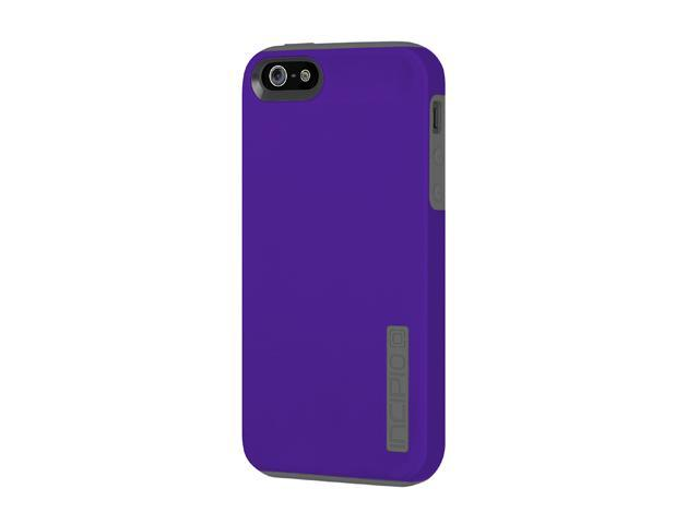 Incipio SILICRYLIC DualPro Indigo Violet / Charcoal Gray Solid Hard Shell Case w/ Silicone Core for iPhone 5 / 5S IPH-817