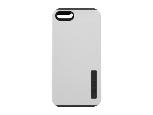 Incipio SILICRYLIC DualPro Optical White / Charcoal Gray Solid Hard Shell Case w/ Silicone Core for iPhone 5 / 5S IPH-818
