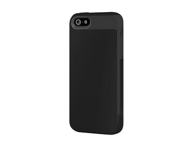 Incipio Faxion Obsidian Black / Obsidian Black Solid Semi-Rigid Soft Shell Case w/ Polycarbonate Frame for iPhone 5 / 5S IPH-823