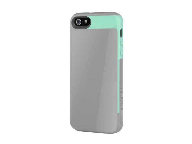 Incipio Faxion Haze Gray / Navajo Turquoise Solid Semi-Rigid Soft Shell Case w/ Polycarbonate Frame for iPhone 5 / 5S IPH-826