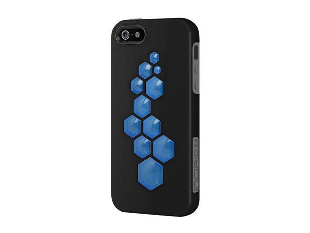 Incipio CODE Obsidian Black / Charcoal Gray / Cyan Blue Solid Hard Shell Case w/ Silicone Core for iPhone 5 IPH-861