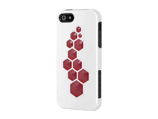 Incipio CODE Optical White / Obsidian Black / Scarlet Red Solid Hard Shell Case w/ Silicone Core for iPhone 5 / 5S IPH-863
